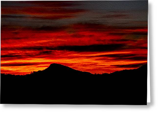 Greeting Card featuring the photograph Painted Sky 45 by Mark Myhaver