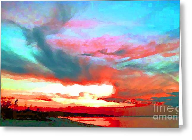 Greeting Card featuring the photograph Painted Sky by Holly Martinson