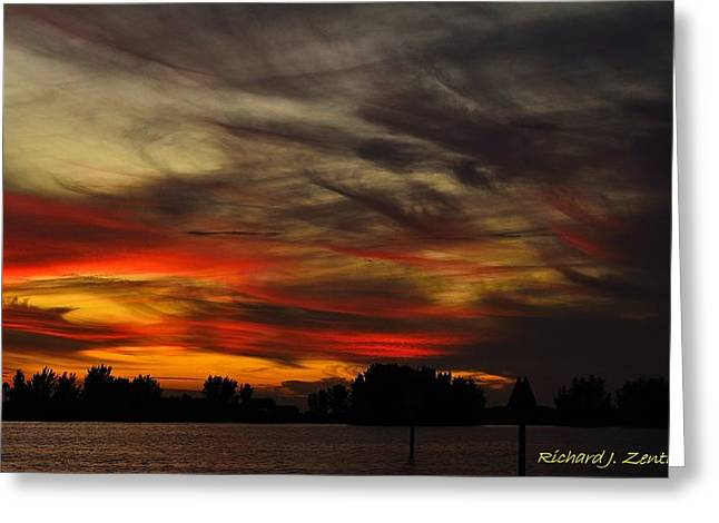 Greeting Card featuring the photograph Painted Sky by Richard Zentner