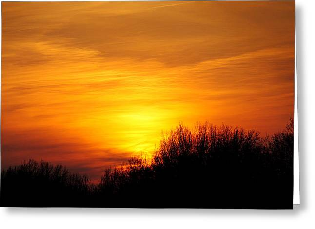 Painted Sky Greeting Card by Frozen in Time Fine Art Photography