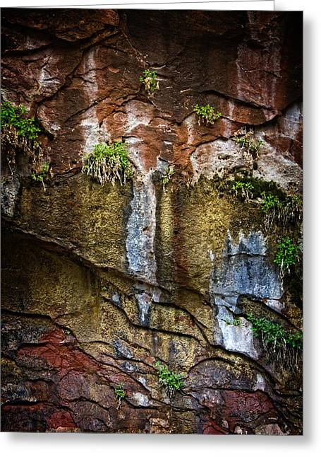 Painted Walls Of Oak Creek No. 1 Greeting Card by Dave Garner