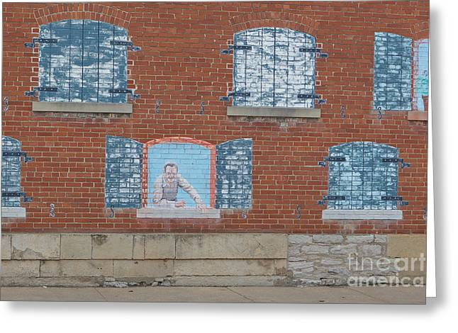 Painted Windows Greeting Card by Kay Pickens
