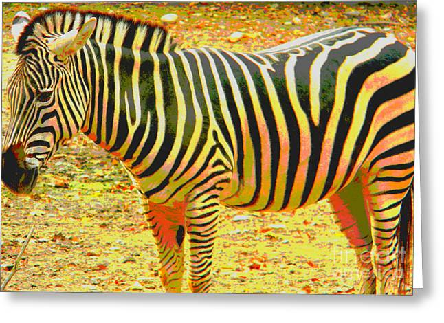 Painted Zebra Greeting Card