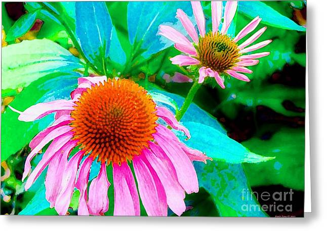 Painterly Coneflowers Greeting Card