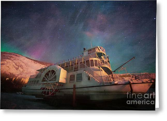 Painterly Northern Lights Greeting Card