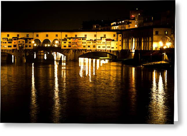 Painterly Ponte Vecchio Firenze Florence Italy Greeting Card