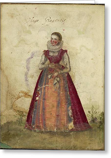 Painting Of A Woman Greeting Card