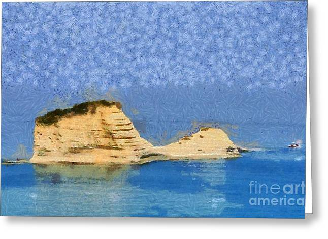 Islet In Peroulades Area Greeting Card