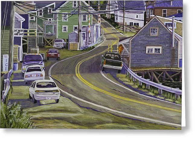 Main Street South Bristol Maine Greeting Card