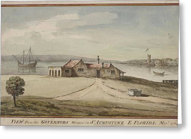 Painting Of View From Florida Governor's Greeting Card by British Library