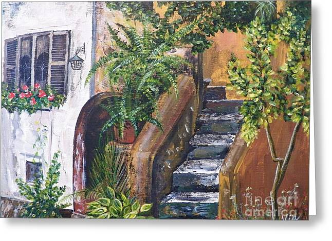 Painting    Siesta Steps Greeting Card