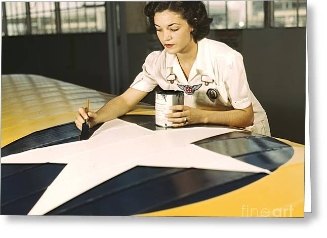 Painting Wing Insignia 1942 Greeting Card by Padre Art