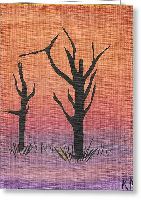 Painting4 Greeting Card by Keith Nichols