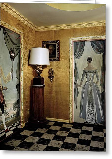 Paintings On The Walls Of Tony Duquette's House Greeting Card