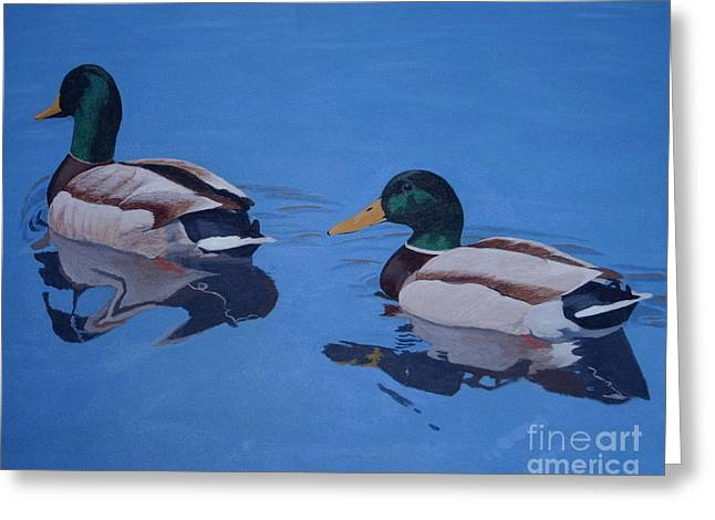 Pair Of Mallards Greeting Card