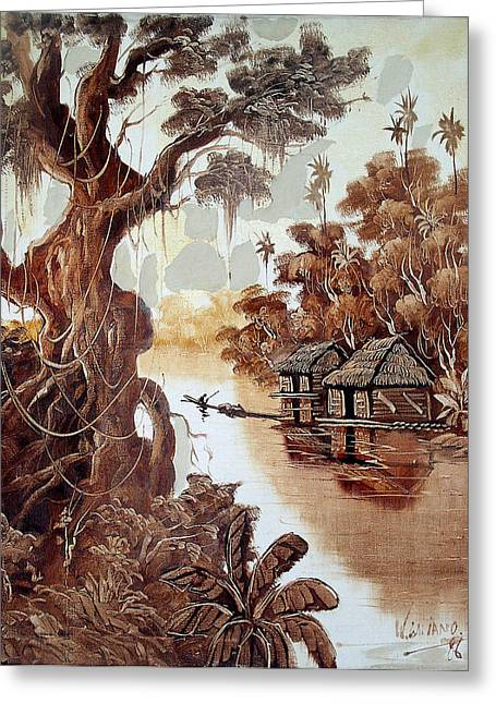 Paisaje Del Amazonas Greeting Card