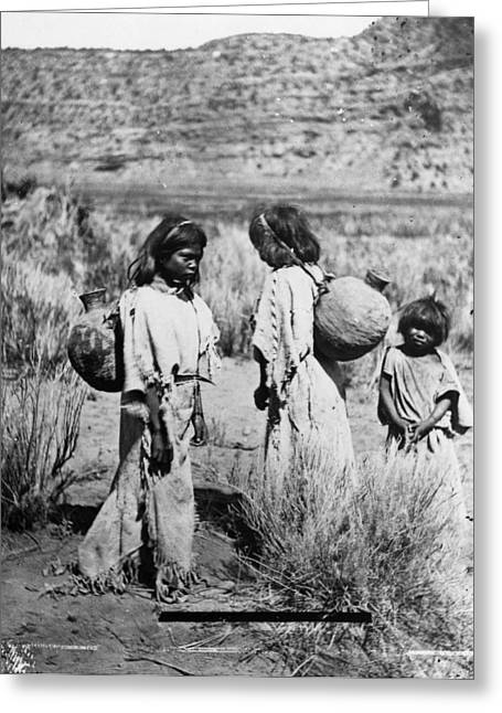 Paiute Water Carriers Greeting Card