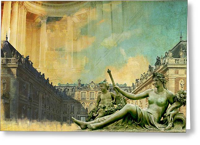 Palace And Park Of Versailles Unesco World Heritage Site Greeting Card by Catf