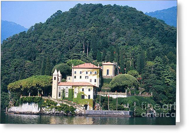 Greeting Card featuring the photograph Palace At Lake Como Italy by Greta Corens