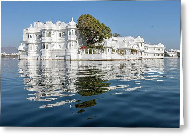 Palace Hotel Jag Niwas Lake Pichola Greeting Card