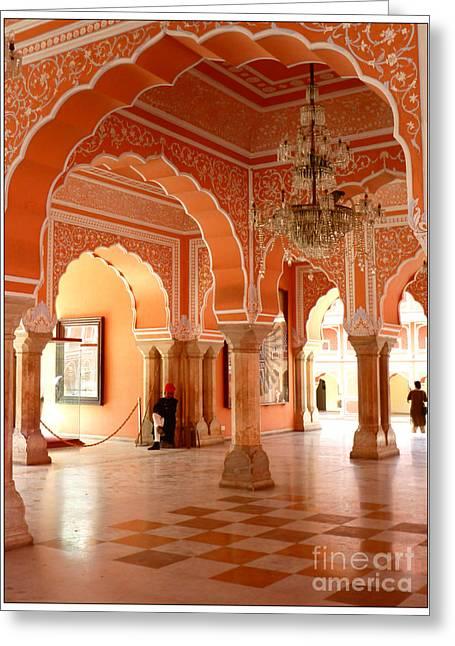 Palace In Jaipur Greeting Card by Sophie Vigneault