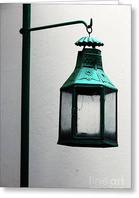 Palace Light Greeting Card by John Rizzuto