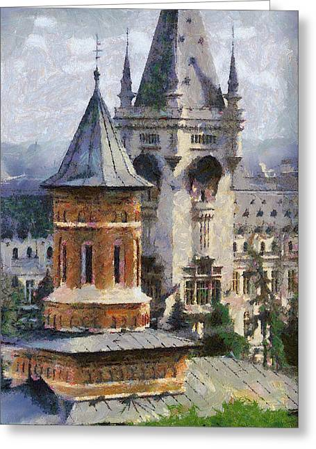 Palace Of Culture Greeting Card by Jeffrey Kolker