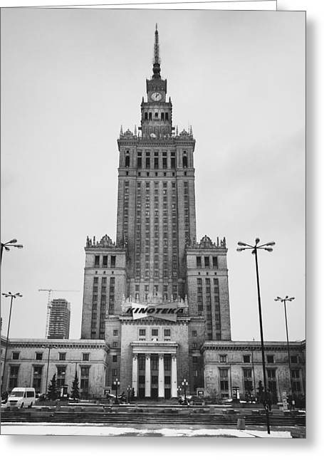 Palace Of Culture Greeting Card by Pati Photography