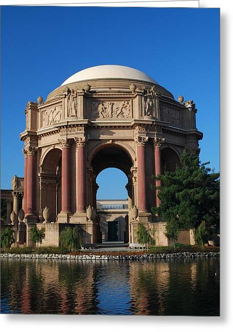 Palace Of Fine Arts Color Greeting Card