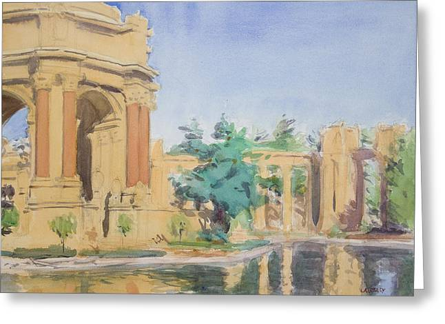 Palace Of Fine Arts Greeting Card by Walter Lynn Mosley