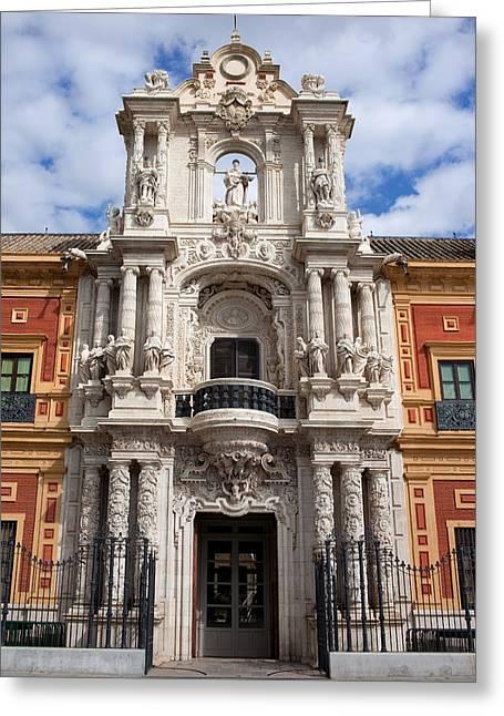 Palace Of San Telmo Baroque Portal Greeting Card by Artur Bogacki