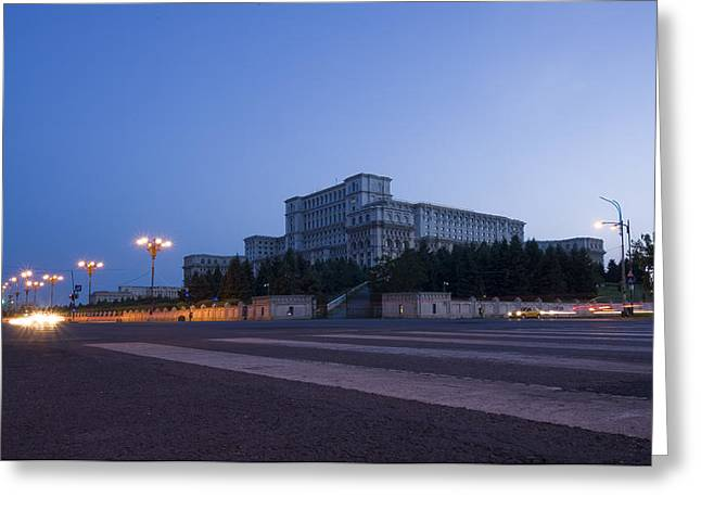 Palace Of The Parliament  Greeting Card by Ioan Panaite