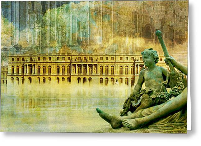Palace Of Versailles Greeting Card by Catf