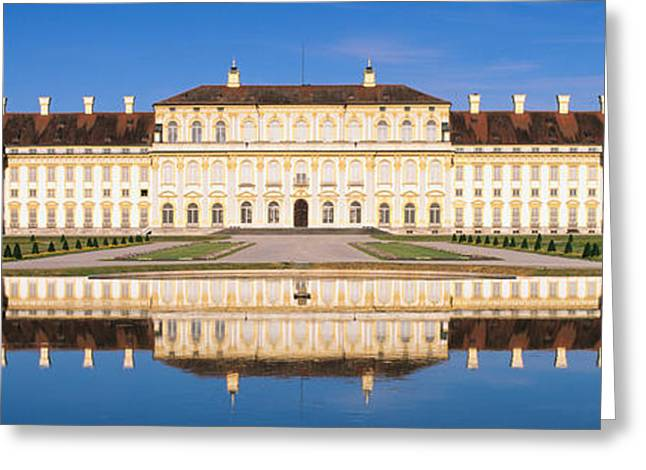 Palace Reflecting In Water, New Palace Greeting Card