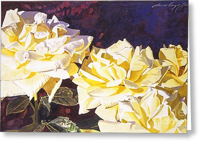Palace Roses Greeting Card by David Lloyd Glover