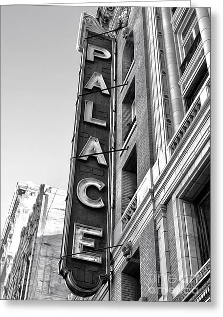 Palace Theater - Los Angeles - Black And White Greeting Card by Gregory Dyer