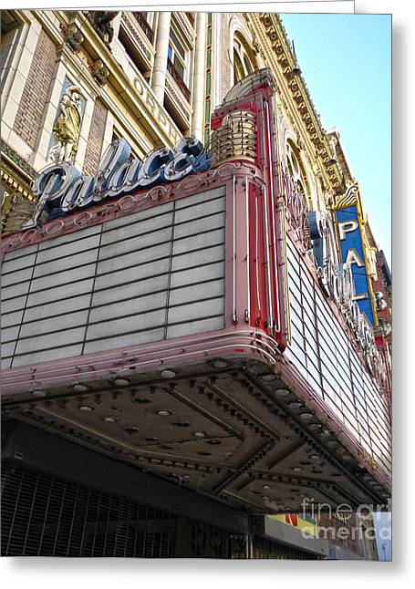 Palace Theater Marquee Greeting Card by Gregory Dyer