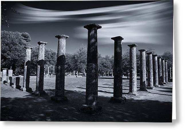 Greeting Card featuring the photograph Palaestra At Olympia by Micah Goff