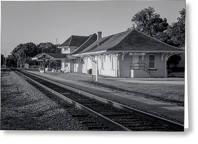Palatka Train Station Greeting Card by Lynn Palmer