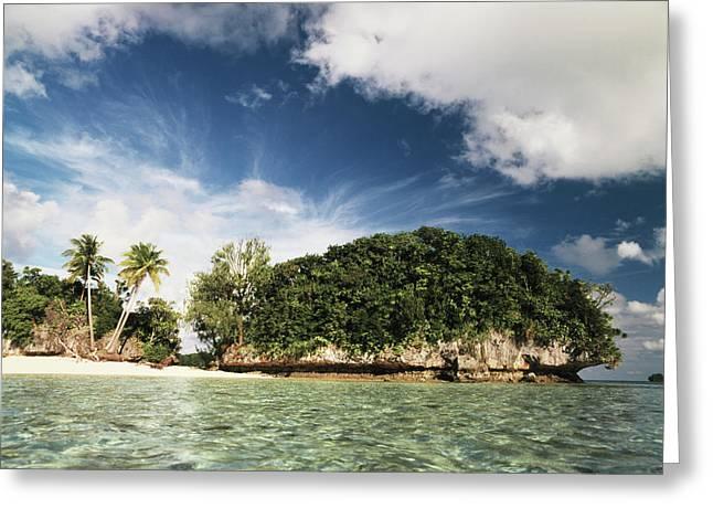 Palau, Micronesia, View Of Honeymoon Greeting Card by Stuart Westmorland