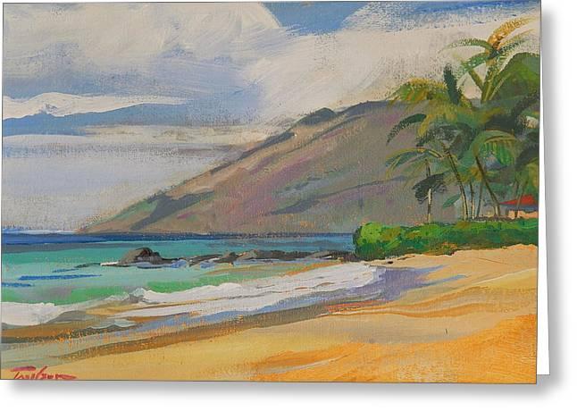 Palauea Beach Greeting Card by Ron Wilson