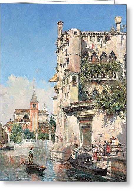 Palazzo Contarini Greeting Card by Jose Gallegos Arnosa