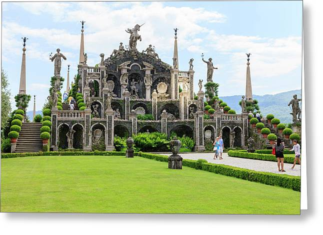 Palazzo Italian Garden Isola Bella Greeting Card by Tom Norring