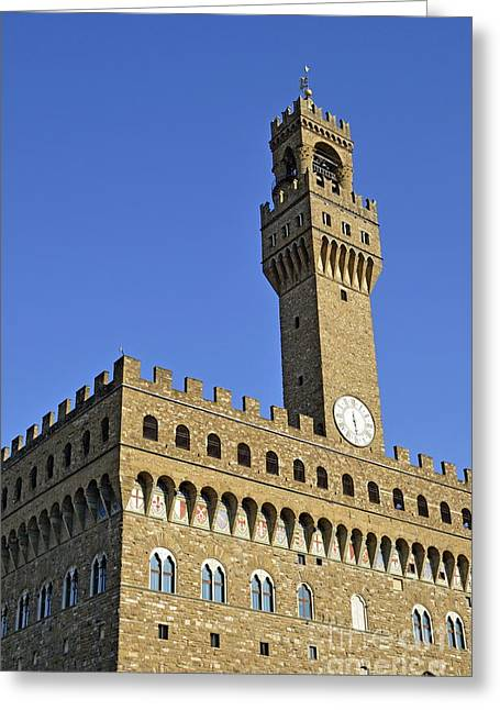Palazzo Vecchio Greeting Card by Sami Sarkis