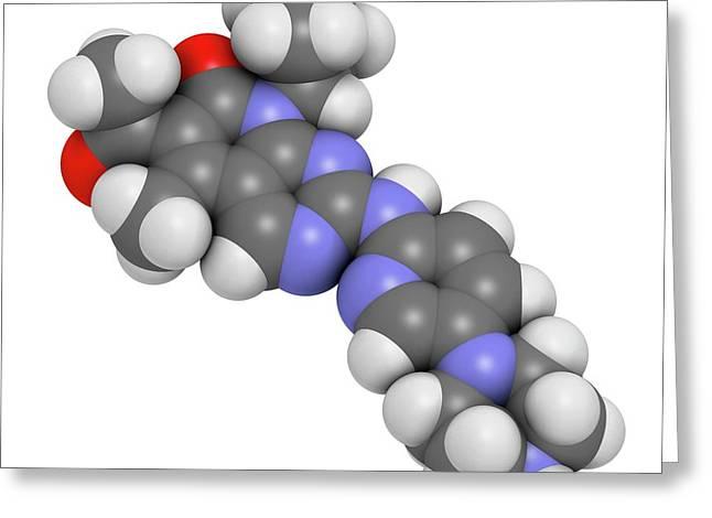 Palbociclib Breast Cancer Drug Molecule Greeting Card by Molekuul