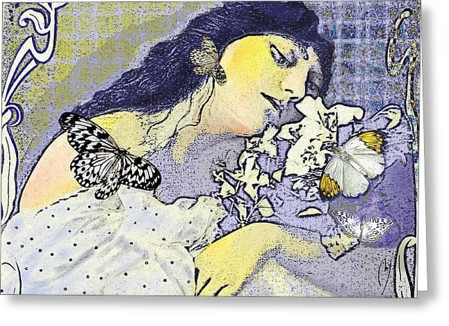 Pale April Greeting Card by Maria Jesus Hernandez