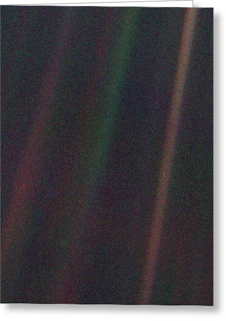 Pale Blue Dot Greeting Card by Nasa/science Photo Library