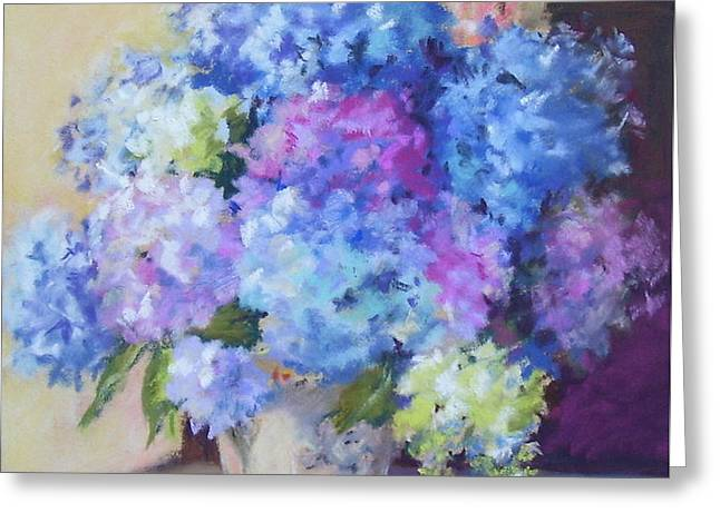 Pale Blue Hydrangeas  Greeting Card