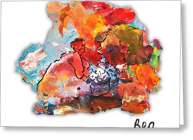 Palette Impressions 2 Greeting Card by Bea Wolfaardt
