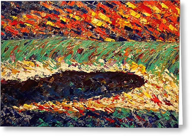 Palette Knife 2 Greeting Card by Paula Shaughnessy